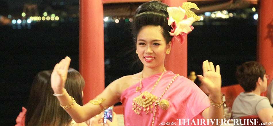 Entertainment on board Wanfah CrusieBangkok Thailand by Thai classical dancing