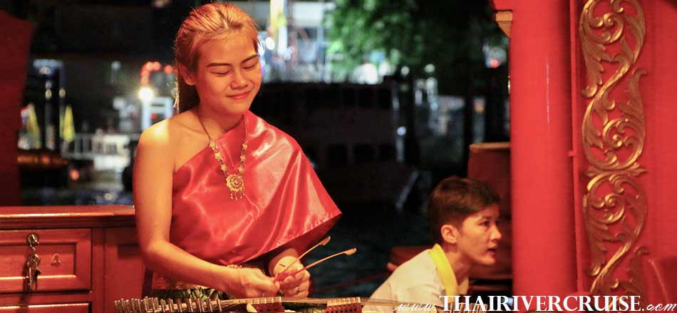 Loy Krathong Bangkok Best Place  Wanfah Dinner Cruise, Entertainment on board Wanfah CruiseBangkok Thailand by Khim Music Player