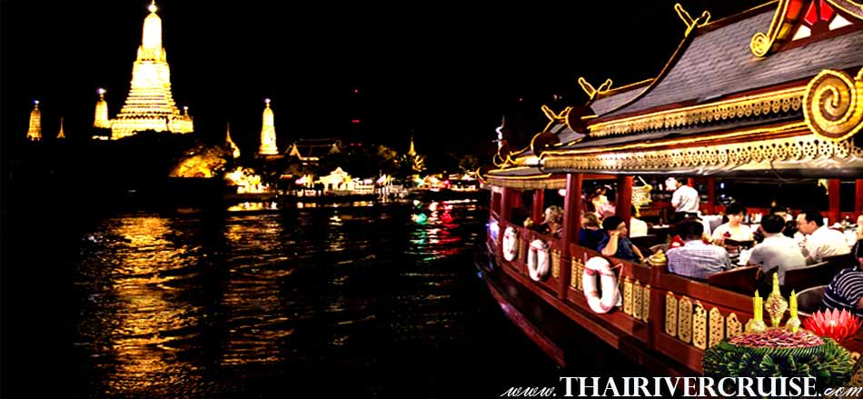 Welcome aboard Wanfah Boat the luxury traditional boat. Treat yourself to a memorable loy kratong night out aboard one of Bangkok's most luxurious boat restaurant Bangkok Thailand.