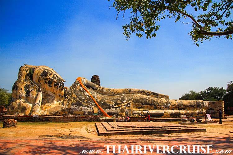 Wat Lokaya Sutharam, Or Reclining Buddha Temple Ayutthaya