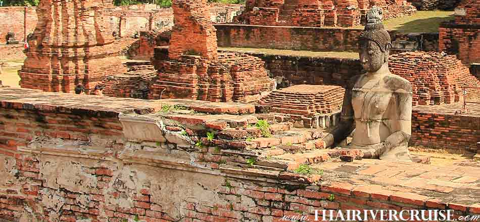 Ancient Ruin Buddhist Temple Wat Mahatad, White Orchid River Cruise Ayutthaya
