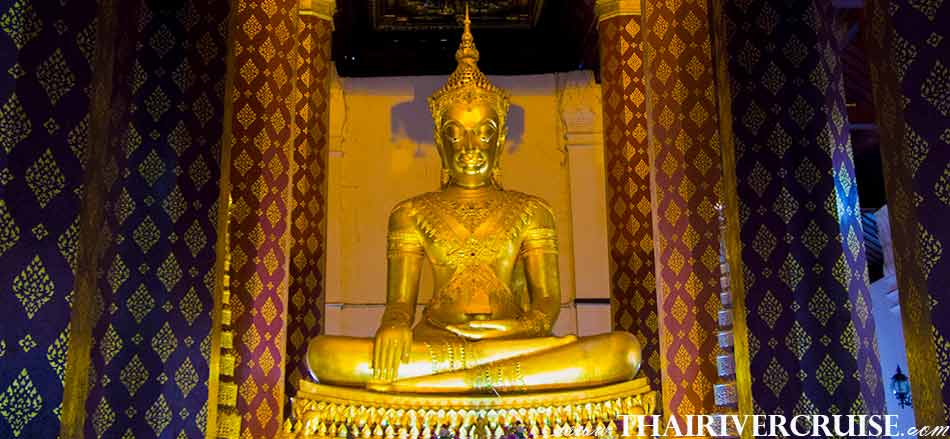 Wat Na Phra Mane Ayutthaya River Cruise full day tour from Bangkok by river cruise Chaophraya River Thailand