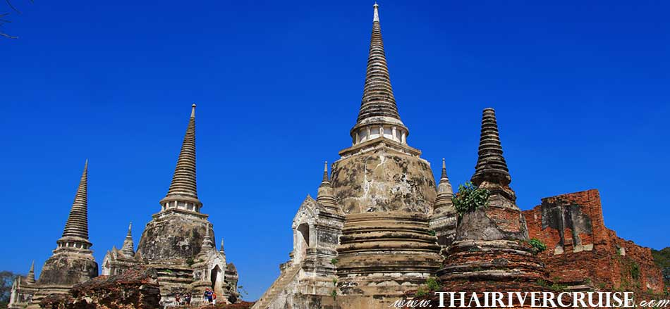 Wat Phra Sri Sanphet Ayutthaya River Cruise full day tour from Bangkok by river cruise Chaophraya River Thailand