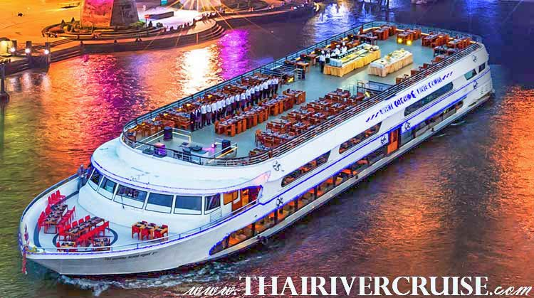 Rooftop Dinner Cruise Bangkok New Years Eve Thailand by White Orchid River Cruise