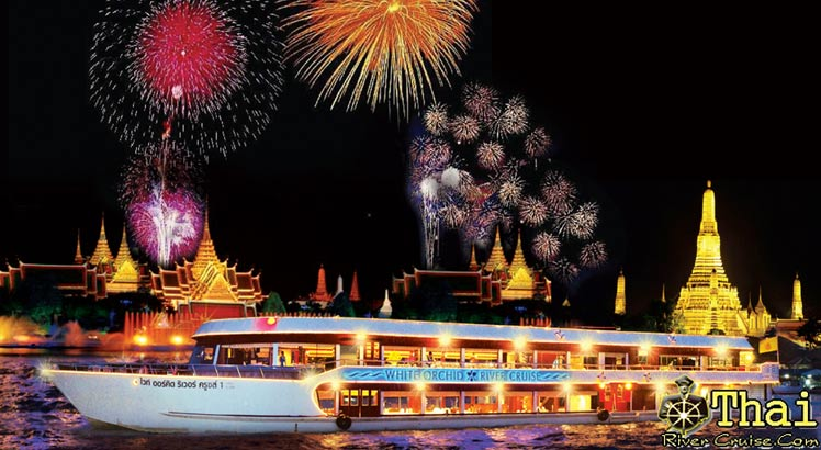 Countdown New Year 2012 Bangkok Dinner Cruise Party Night  by White Orchid River Cruise