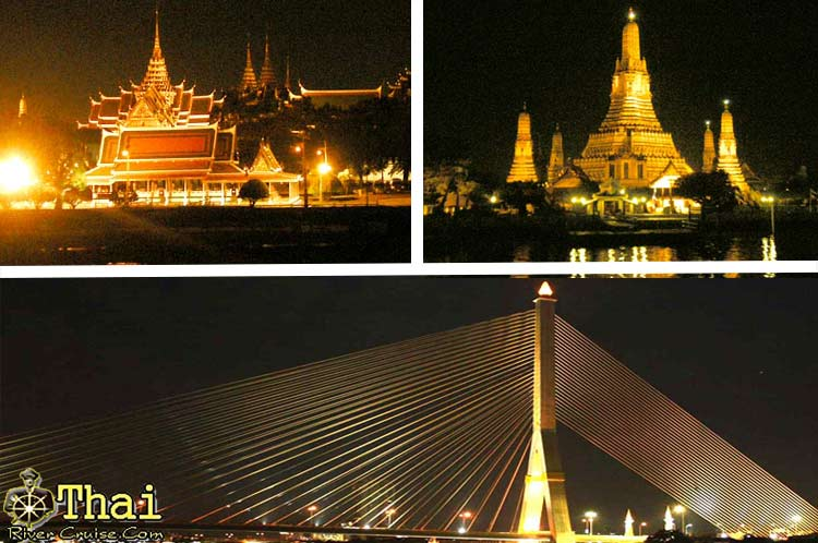 Chaophraya River Attraction at Night