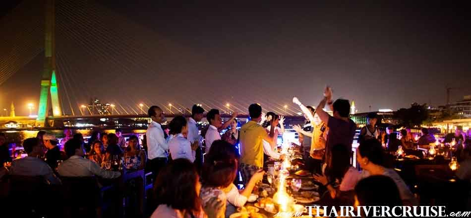 White Orchid River Cruise Bangkok Buffet Dinner Cruise Chaophraya
