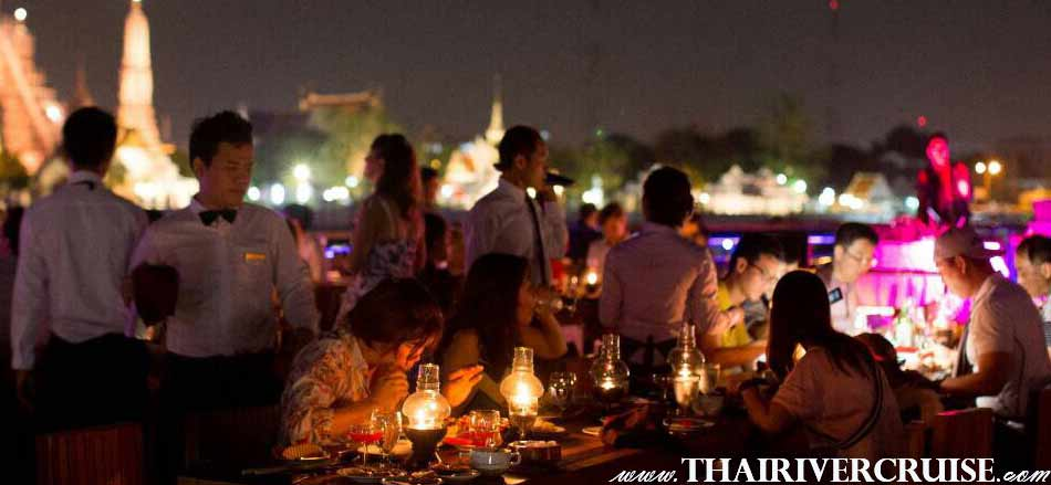 White Orchid River Cruise luxury buffet dinner cruise along Chaophraya river Bangkok Thailand