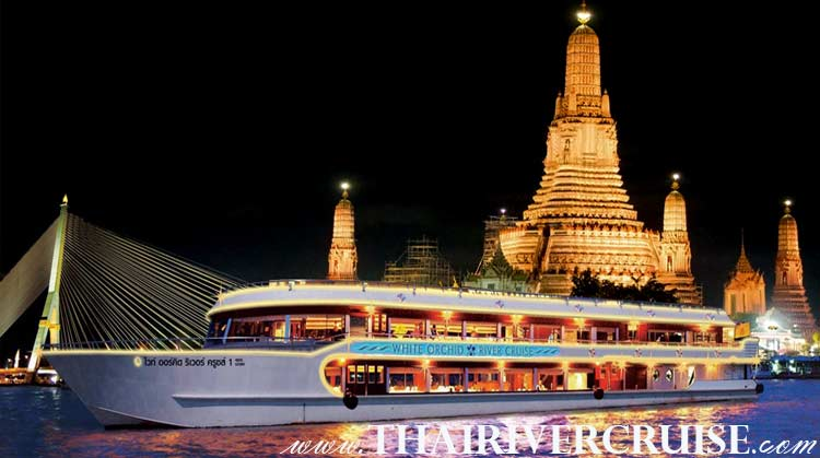 White Orchid River Cruise The Modern Luxury River Cruise of Chaophraya Bangkok Thailand