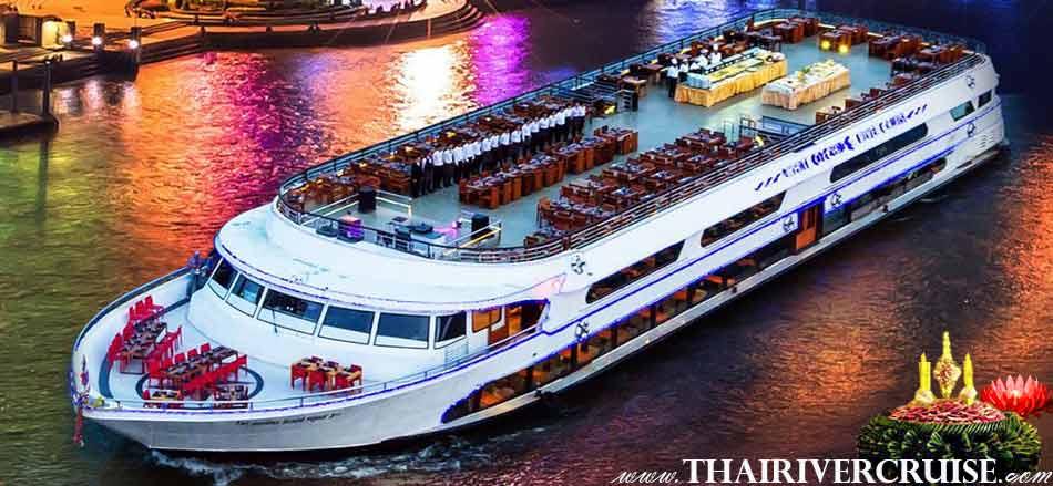 Loy Krathong Bangkok on White Orchid River Dinner Cruise Thailand
