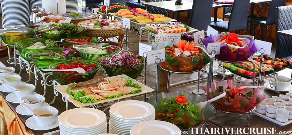 Green Salad Bar at Buffet Line,White Orchid River Cruise Ayutthaya