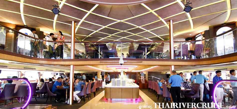 Wonderful Pearl Cruise Sunset Dinner Cruise Bangkok,Wonderful Pearl Cruise, luxury large elegance5-stars dinner cruise Chaophraya river Bangkok Thailand