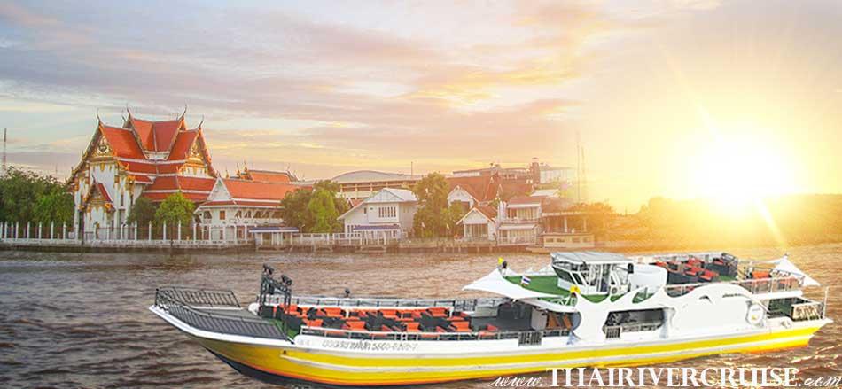 Welcome aboard Yod Siam Cruise Bangkok Sunset Cruise & Night Cruise Chaophraya River Bangkok Thailand