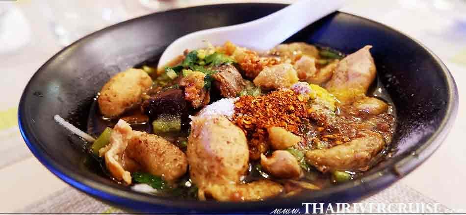 Thai noodle soup, Bangkok Sunset Dinner Cruise Meridian Cruise