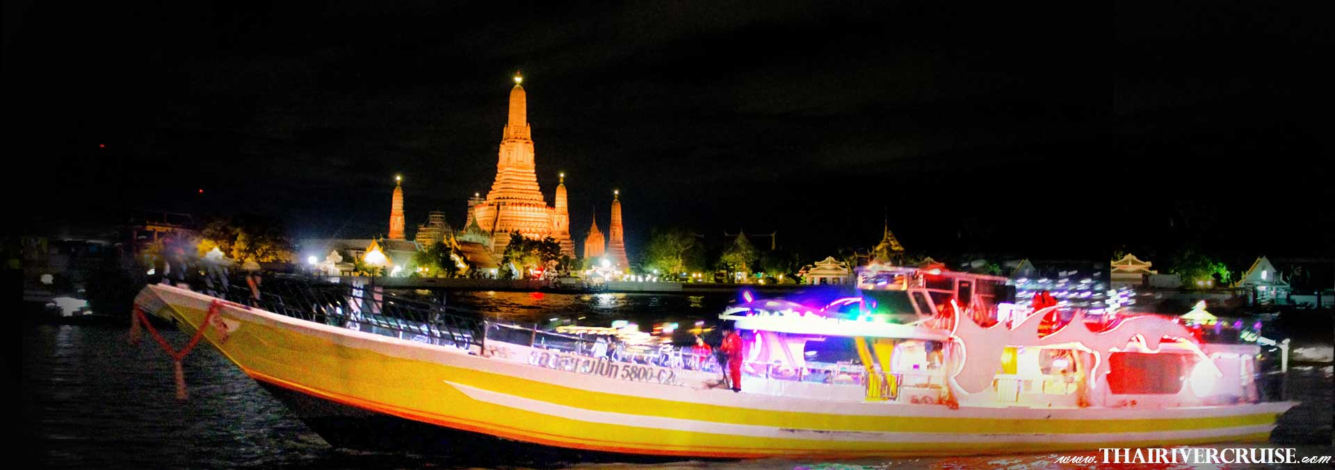 Yod Siam Cruise, Best cocktails Chao Phraya river Cruise Yod Siam Boat sunset cruise cocktail Bangkok & night river Cruise including beer, soft drink, price ticket discount booking offer low price promotion