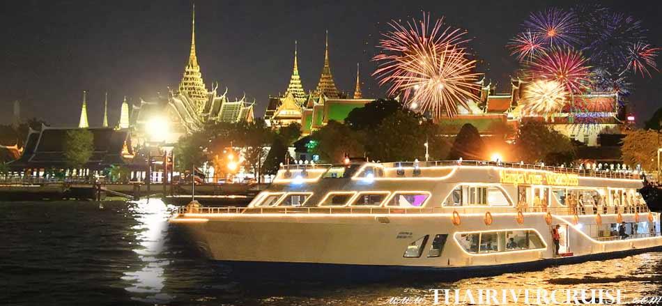 Best place in Bangkok to celebrate Bangkok new year's eve river cruise by Alangka Cruise