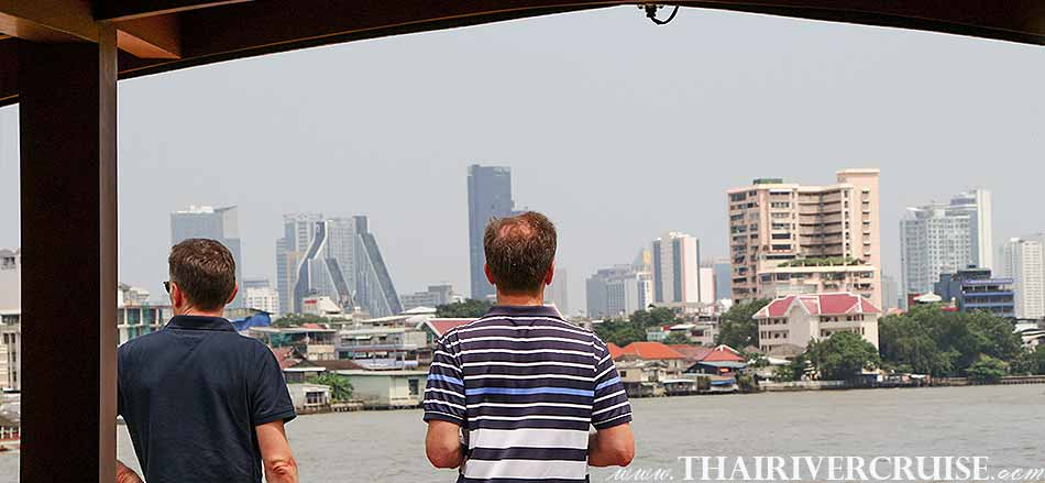 Good time and Good view on Luxury Boat with Rooms Bangkok Private luxury cruise rice barge 5-star 2 cabin boat on the Chaophraya river Bangkok Thailand,Relaxing on-board Best private luxury rice barge Chao phraya river cruises Bangkok Thailand