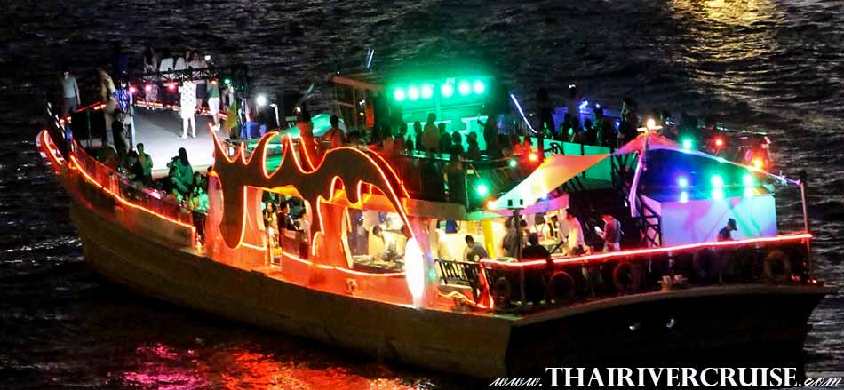 Welcome aboard River Cruise without Dinner Bangkok Sunset Cruise & Night Cruise Chaophraya River Bangkok Thailand.Chao phraya river cruise without dinner Bangkok Chao phraya night boat