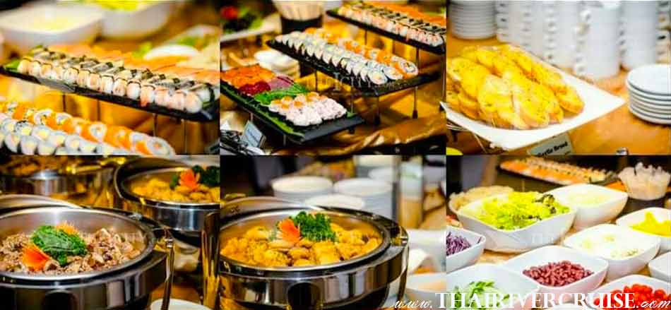 Halal Food Dinner Bangkok Chao Phraya River Cruise for Muslim, Famous dinner cruise in Bangkok and Halal food available for Muslim
