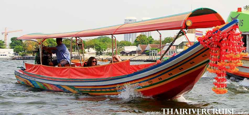 Long tails boat rides in Bangkok Thailand