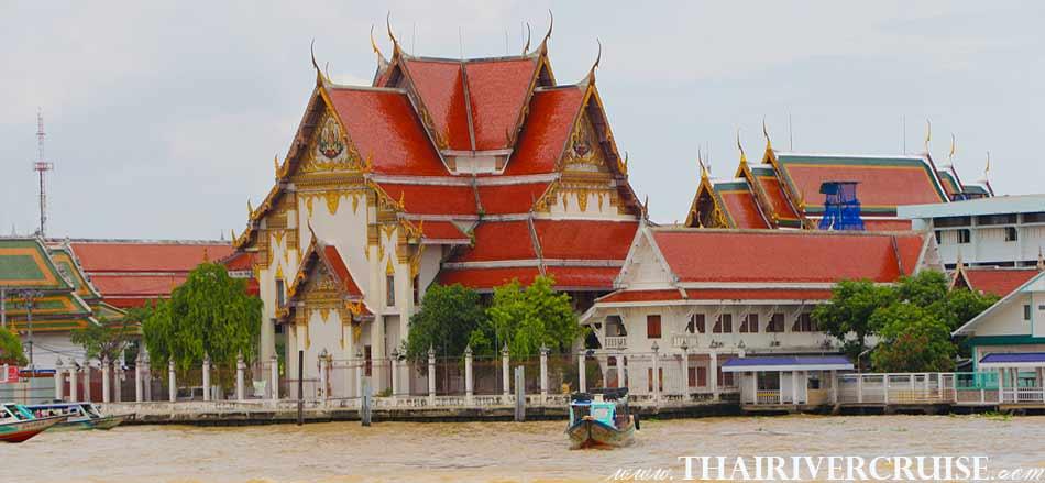 Wat Rakang Kositaram,Bangkok.(วัดระฆังโฆษิตาราม ) The beautifulscenery and attraction along the Chaophraya river Bangkok,Long tails boat rides in Bangkok Thailand