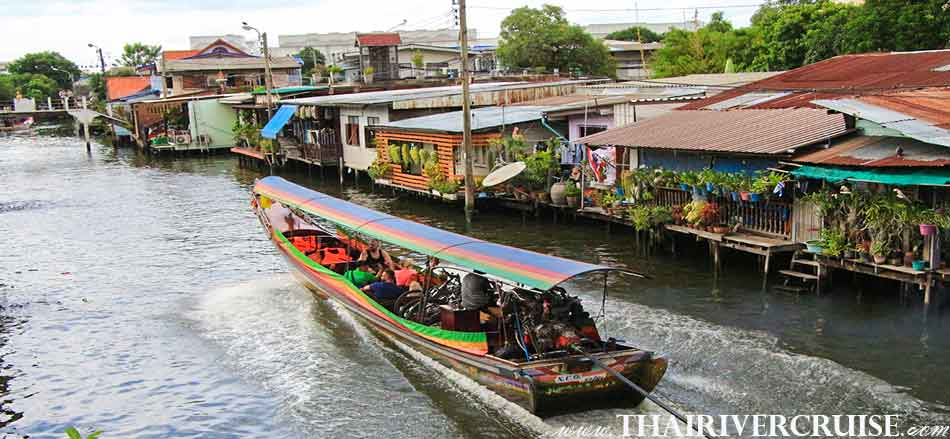 Long tails ride along Thonburi canals, Sunset Boat Tour Bangkok Private Long Tail Boat Tour