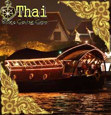 Loy Nava Cruise ( Bangkok Open Air - Conditioned Thai Style Cruise ) Restaurant Boat Bangkok
