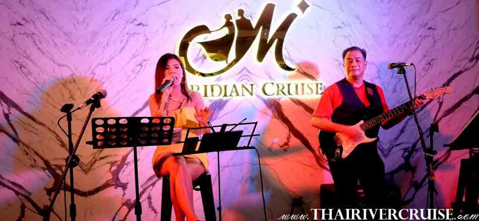 Live Band Music Meridian  Cruise Bangkok Dinner Cruise Chaophraya River