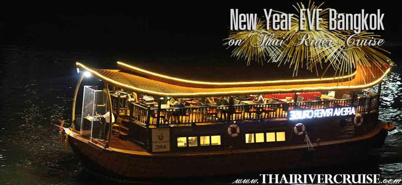 Arena River Cruise ( Indian Dinner Cruise ), New Years Eve Bangkok 2021 Dinner Countdown River Cruise on the Chao Phraya River Bangkok Thailand